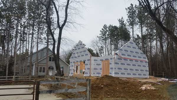 barrington hills new home construction framing