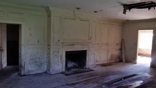fireplace and hardwood floors restored